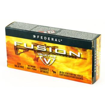 Federal Fusion, 224 Valkyrie, 90 Grain, Boat tail, 20 Round Box F224VLKMSR1, UPC :604544630305