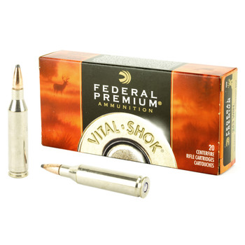 Federal Vital-Shok, 243 Win, 100 Grain, Sierra GameKing Boat Tail Soft Point, 20 Round Box P243C, UPC : 029465084295