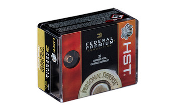Federal Premium, 9MM, 147 Grain, Jacketed Hollow Point, 20 Round Box P9HST1S, UPC :604544621075
