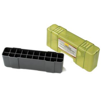 Plano Ammunition Box, Holds 20 Rounds Of 20 .30-06/7mm Mag/.338/.340 Rifle Rounds, Charcoal/Green , 6 Pack 1230-20, UPC : 024099122825