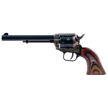 """Heritage Rough Rider, Single Action Army Revolver, 22LR/22WMR, 6.5"""" Barrel, Alloy Frame, Simulated Case Hardened Finish, Camo Laminate Grips, Fixed Sights, 6Rd, Right Hand 22MCH6, UPC :727962503805"""
