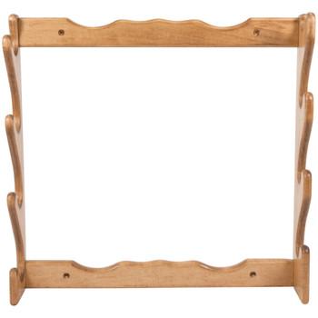 "Allen Four Gun Wooden Wall Rack, Solid Wood Construction, 24.5""X24.5""x4.25"", Natural Finish 18550, UPC : 026509185505"