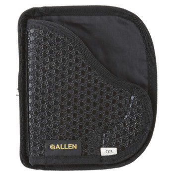 Allen Baseline In The Pocket Holster, Ambidextrous, Black Tacky Fabric,Size Medium, Fits Compact 9MM and 40 Caliber Semi-automatic Pistols 44203, UPC : 026509442035