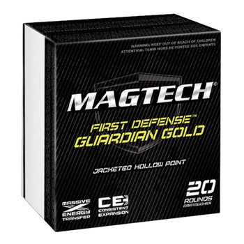 Magtech Guardian Gold, 40S&W, 155 Grain, Jacketed Hollow Point, 20 Round Box GG40A, UPC :754908174515