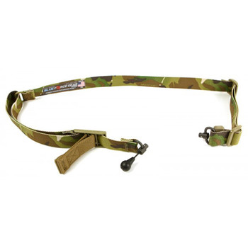 Blue Force Gear Padded Sling, Molded Acetal Adjuster, No Quick Release, Attached with TriGlide instead of Loop Lock, 2-Point Combat Sling, Multi-Cam VCAS-200-OA-MC, UPC :814520015785