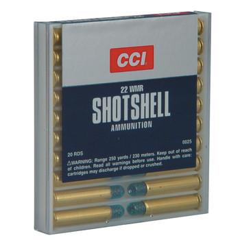 CCI/Speer Shotshell 22WMR, 52 Grain, Shotshell #12, 20 Round Box 25, UPC : 076683000255