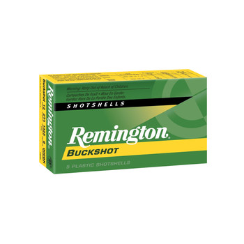 "Remington Express, 12 Gauge, 2.75"", 000 Buck, 3 Dram, Buckshot, 10 Pellets, 5 Round Box 20406, UPC : 047700019505"