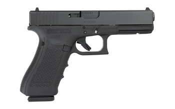 "Glock 17 Gen 4, Safe Action, Full Size Pistol, 9MM, 4.48"" Barrel, Polymer Frame, Matte Finish, Fixed Sights, 17Rd, 3 Magazines, Glock OEM Rail PG1750203, UPC :764503652035"