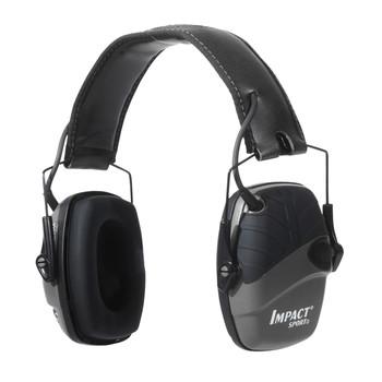 Howard Leight Impact Sport, Electronic Earmuff, Deluxe Headband, Black R-02524, UPC : 033552025245