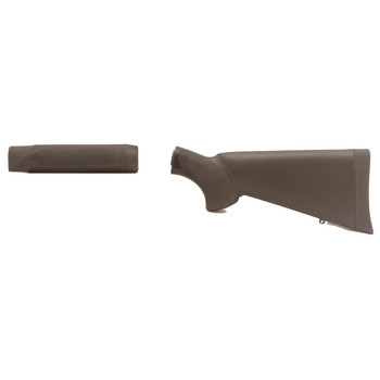 Hogue Grips Stock Overmolded, Fits Mossberg 500, with Forend, Black 05012, UPC :743108050125