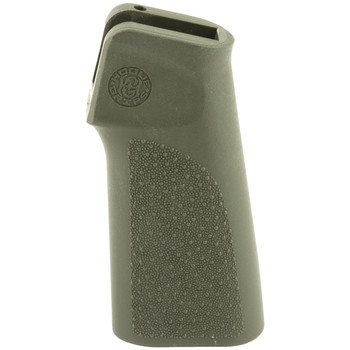 Hogue Grips 15 Degree Vetical Rifle Grip, Fits AR-15/M16, Polymer, No Finger Groove,  OD Green 13101, UPC :743108131015