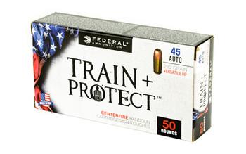 Federal Train & Protect, 45 ACP, 230 Grain, Verastile Hollow Point, 50 Round Box TP45VHP1, UPC :604544627305