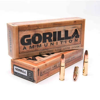 Gorilla Ammunition Company LLC 300 AAC Blackout, 110Gr, Jacketed Lead Core Hollow Point, 20 Round Box GA300110VARM, UPC :858934003495