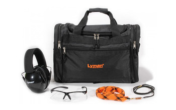 Lyman Range Kit, Includes Hearing and Eye Protection, Range Bag, and QwikDraw Barrel Cleaner 7837821, UPC : 011516778215