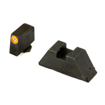 AmeriGlo Sight, Fits All Glocks Except 42/43, Green Tritium Orange Outline Front Black Rear, Tall Suppressor Set GL-511, UPC :644406904625