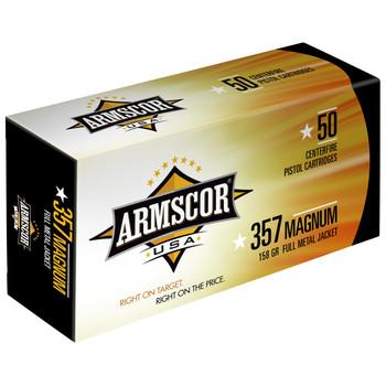 Armscor 357MAG, 158 Grain, Full Metal Jacket, 50 Round Box FAC357-6N, UPC :812285020075