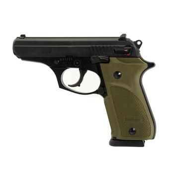 "Bersa Thunder 380 Combat Plus, Semi-automatic Pistol, DA/SA, 380ACP, 3.5"" Barrel, Alloy Frame, Steel Slide, Matte Black Finish, Olive Rubber Grips, 15Rd T380PMC, UPC : 091664904025"