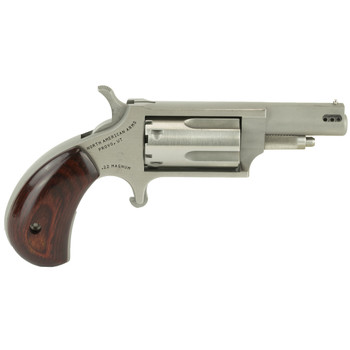 """North American Arms Ported Magnum, Micro Compact, 22LR/22WMR, 1.625"""" Barrel, Stainless Steel Frame, Wood Grips, 5Rd NAA-22MC-P, UPC :744253002175"""