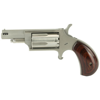 "North American Arms Ported Magnum, Micro Compact, 22LR/22WMR, 1.625"" Barrel, Stainless Steel Frame, Wood Grips, 5Rd NAA-22MC-P, UPC :744253002175"