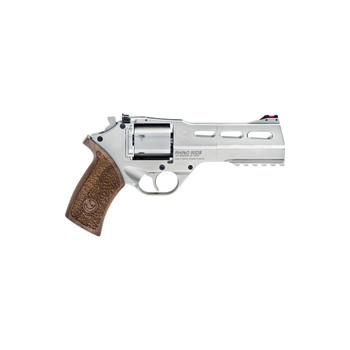 """Chiappa Firearms Rhino Single Action Revolver, Single Action Only, 357 Mag, 5"""" Barrel, Alloy Frame, Nickel Finish, 3                                               Moon Clips, 6 Rounds CF340-247, UPC :8053670714175"""
