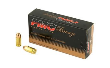 PMC Bronze 380ACP, 90 Grain Full Metal Jacket, 50 Round Box 380A, UPC :741569070065