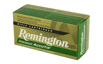 Remington Premier AccuTip, 22 Hornet, 35 Grain, AccuTip-V, 50 Round Box 29154, UPC : 047700384405