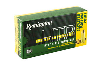 Remington High Terminal Performance, 40 S&W, 180 Grain, Jacketed Hollow Point, 50 Round Box 22332, UPC : 047700426105