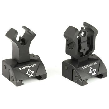 Diamondhead USA, Inc. Diamond Sight, Front/Rear Flip Sights, Integrated Sighting System, Picatinny, Black 1199, UPC :857880003115