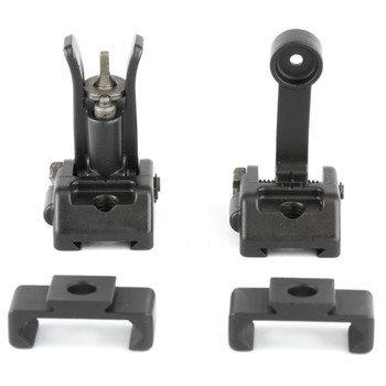Griffin Armament M2 Sights, Front/Rear Folding Sights, Fits Picatinny Rails, Matte Finish, Includes 12 O'Clock Bases GAM2S, UPC :791154082775