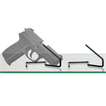 Gun Storage Solutions Handgun Kikstands, Vinyl coated, Fits Guns As Small As .22 Caliber, 1 Per Stand, Free Standing, Black KIK10, UPC :856691002195