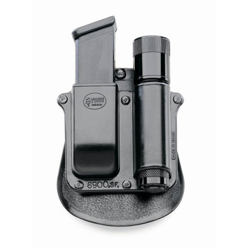 """Fobus Paddle Pouch, Fits Any 1"""" Diameter Flashlight, Glock, H&K 9/40 Mags, Right Hand, Kydex, Black SF6900, UPC :676315000655"""