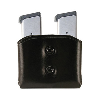 Galco DMC Pouch, Fits Single Stack Magazines, Ambidextrous, Black Leather DMC26B, UPC :601299037045