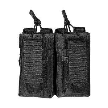 NCSTAR Double AR Magazine Pouch, Nylon, Black, MOLLE Straps for Attachment, Fits Two AR Style Magazines CVAR2MP2927B, UPC :814108016715