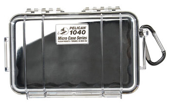 """Pelican 1040 Protect Case, For iPod, 6.5""""X3.9""""X1.7"""", Black and Clear 1040-025-100, UPC : 019428083175"""