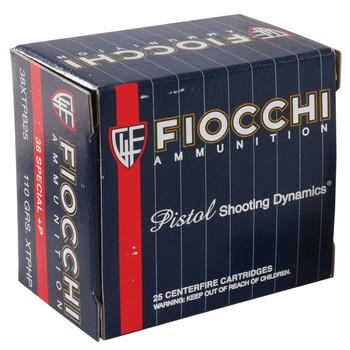 Fiocchi Ammunition Centerfire Pistol, 38 Special, 110 Grain,XTP, 25 Round Box 38XTPB25, UPC :762344710525