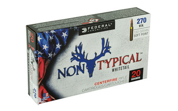 Federal Non Typical, 270 Win, 130Gr, Soft Point, 20 Round Box 270DT130, UPC :604544626995