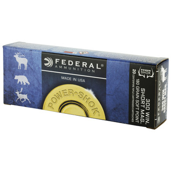 Federal PowerShok, 300WSM, 180 Grain, Soft Point, 20 Round Box 300WSMC, UPC : 029465095055