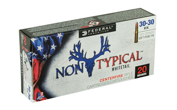 Federal Non Typical, 30-30, 150Gr, Soft Point, 20 Round Box 3030DT150, UPC :604544627015