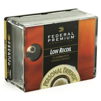 Federal Personal Defense, Hydra-Shok, 380 ACP, 90 Grain, Jacketed Hollow Point, Low Recoil, 20 Round Box PD380HS1H, UPC : 029465088415