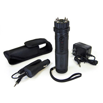 PS Products ZAP Light Extreme, Stun Gun, Black, 1,000,000 Volts, Flashlight, With Spikes ZAPLE, UPC :797053100435