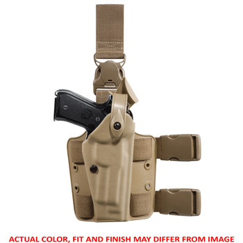 """Safariland Model 6005 SLS Tactical Holster with Light and Quick-Release Leg Strap, Fits Springfield Operator 1911-A1 with M3X/M6X Light with 5"""" Barrel, Right Hand, STX Tactical Black Finish 6005-5612-121, UPC :781606943075"""