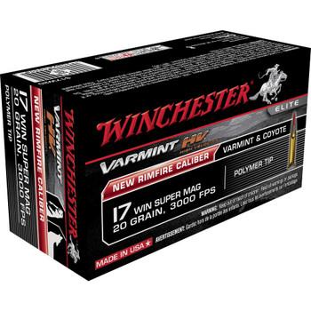 Winchester Ammunition Varmint HV, 17WSM, 20 Grain, V-Max, 50 Round Box S17W20, UPC : 020892103085