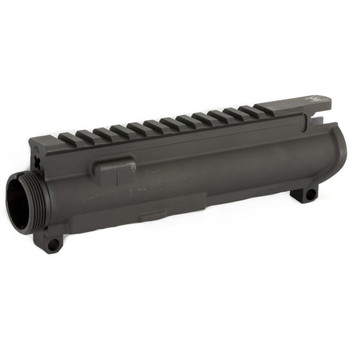Spike's Tactical Upper, Fits AR Rifles, Black, Flat Top, Machined from a Mil-Spec 7075 T6 forging, with Forward Assist and Ejection Door installed SFT50M4, UPC :855713006005