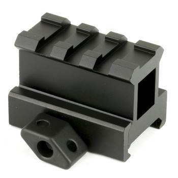 """Leapers, Inc. - UTG 3-Slot Compact Riser Mount, 1"""", Height Compact Riser, Picatinny, Black MNT-RS10S3, UPC :4712274526495"""