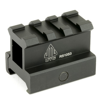 "Leapers, Inc. - UTG 3-Slot Compact Riser Mount, 1"", Height Compact Riser, Picatinny, Black MNT-RS10S3, UPC :4712274526495"