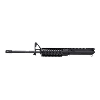 "Spike's Tactical Upper, 223 Rem/556 NATO, 16"" Barrel, 1:7 Twist, Fits AR Rifles, Flat Top, Four Rail Handguard, Chrome Lined, Black Finish STU5025-R9S, UPC :815648021085"