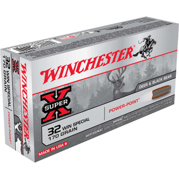 Winchester Ammunition Super-X, 32 WIN Special, 170 Grain, Power Point, 20 Round Box X32WS2, UPC : 020892200425