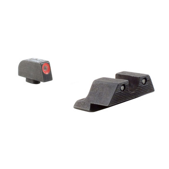 Trijicon HD Tritium Sight, Fits Glock 20,21,29,30,31,32 Orange Outline, Trijicon HD Night Sights GL104O, UPC :719307209695