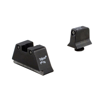 Trijicon Bright  Tough, Sight, Suppressor Set, Fits Glock 17,17L,19,22,23,24,25,26,27,28,31,32,33,34,35,37,38,39, Black Front/Black Rear with Green Lamps GL201-C-600661, UPC :719307211285