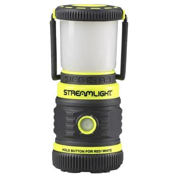 Streamlight Siege, Lantern, 200/100/50 lumens White C4 LED, Red LED, 3x AA Batteries, Yellow 44943, UPC : 080926449435